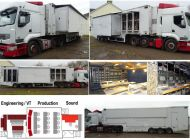 OB21 20 camera SDI wired double expanding trailer (5m wide). with Equipment. Calrec