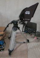 Goprompt12 complete autocue iscript system with petrol case, vinten tripod and more
