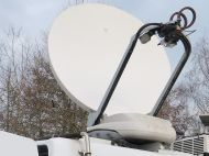 VIslink advent newswift 1.5metre dsng dish with acu4000 vislink controller. (1.5m ku band)