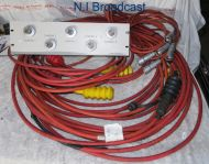 5x triax camera tailboard panel with cables