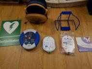 heartsine smaritan pad defibrillator SAM 500p with child and adult,