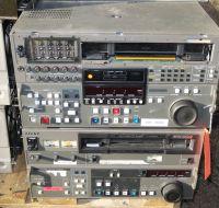 Pallet of 13x sony dvw500p / a500p, a510p, pvw2800p video recorders