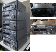 1x 7x pallet panasonic dvcpro and dvcpro 50 video recorders