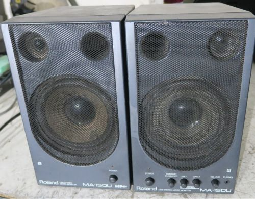 Roland ma-150u speakers amplified (pair)