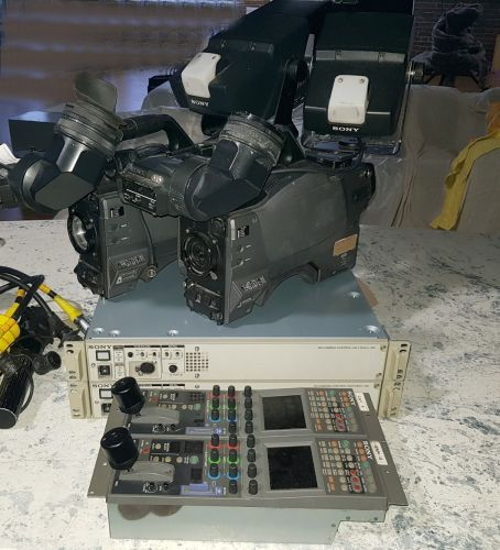 4x sony hxc100 Sony triax hxc-100 hdsdi high defintion camera channel with cabling and more