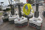 7x vinten radamec robot robotic studio pedestals with cables, hk435 heads and more