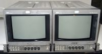 2x Sony SDi input and composite BVM9045D 9inch monitors with 4:3. 16:9