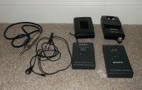 Sony radio mic kit . (includes WRT-820
