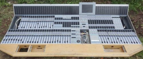 Stagetec Cantus digital sound desk control surface with 68 input faders. (2.3m wide)
