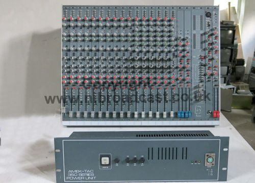 Amek tac 16-4-2 16 channel B2 sound mixer with PSU (neve) and flightcase  (immaculate condition)