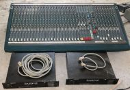 Soundcraft K3 series 32 input 8 group live sound mixer with 2x PSU and cables