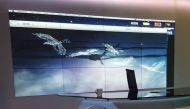 MPDP Approx 4m  monitor wall with 12x 42inch edge to edge monitor wall with framework