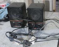 Pair of Fostex 6301B amplified speakers