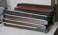 6x  Moses mitchell 24x2 audio jackfield patchbays (soldered back version)