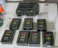 Pag ar124pld charger with 7x l95 and l75 batteries