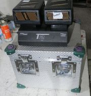 Anton bauer T2 charger with 2x hytron 140 batteries and case (ref 3)