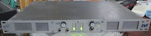 Bel bcr  monitor a1 analog  stereo audio monitor unit with speakers