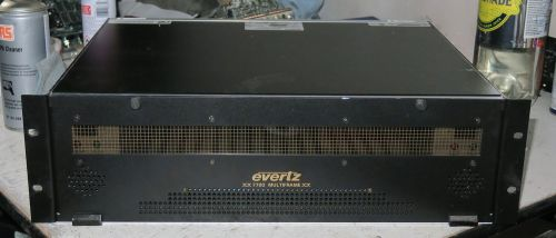 Evertz multiframe 7700 frame with 2x 7700 PSus