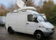 OB54  2006 mercedes sprinter camera / SNG truck  with 1.2m SNG ku band dish.