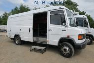 OB69 Mercedes 7.5ton left hand drive tender truck with tail lift (