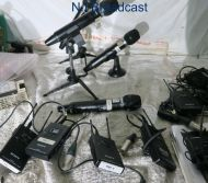Sony hand held wireless micutx-h2 with receiverURX-P2 belt back (ch 42-45) with cable (ref 2)