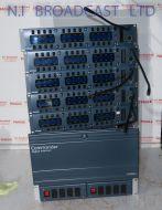 Trilogy Commander 96 channel intercom talkback mainframe with 5 panels