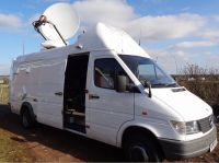 Mercedes sprinter412D left hand drive DSNG truck with redundancy setup (HD upgradable) with advent NewSwift 1.5m motorised dish