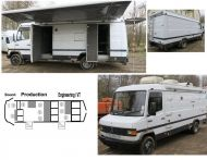 SOLD    ob41  8 camera HDSDI high definition 3 room mercedes 7.49t truck with awning.EURO4