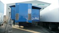refurbished 20 camera double expanding trailer. repainted