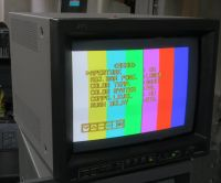 jvc 15 inch crt monitor with sdi and composite. tm-h150cg